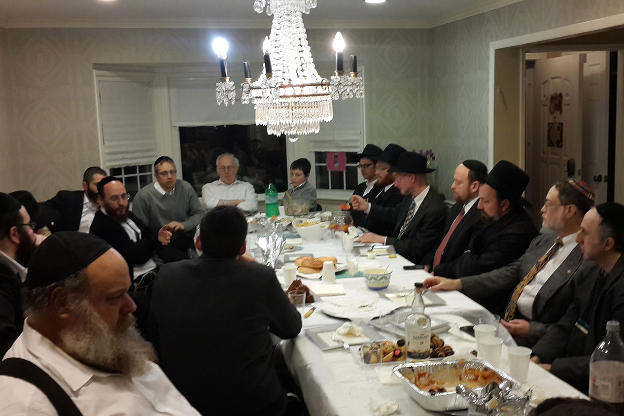 Melava Malka together with Rav Ostroff and R' Shmuel Simenowitz
