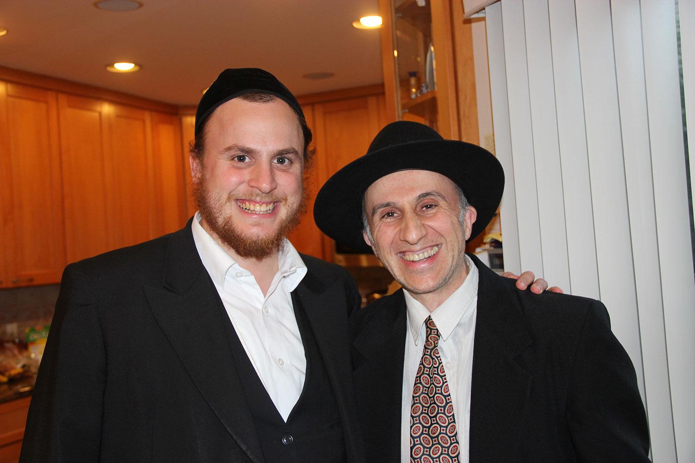 Dovid Engel with talmid